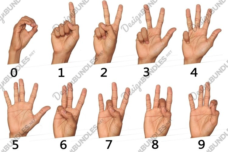 hand sign for number