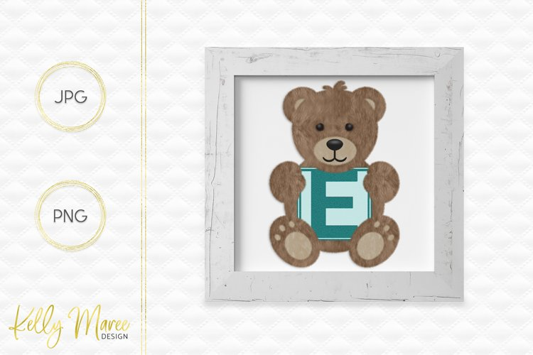 Letter E Teddy Bear Graphic example image 1