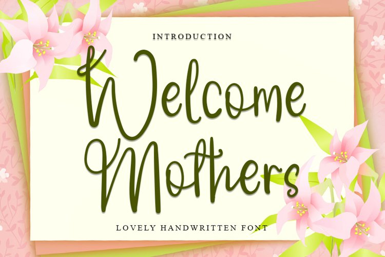 Welcome Mothers   Lovely Calligraphy Font example image 1