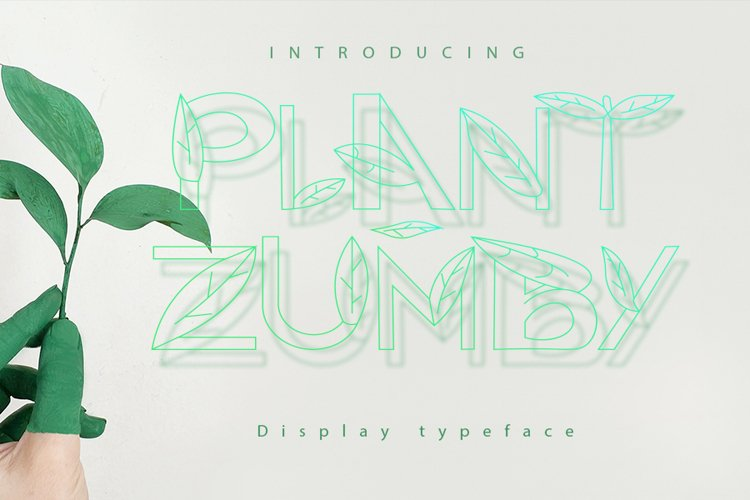 Plant Zumby| A Display Typeface example image 1