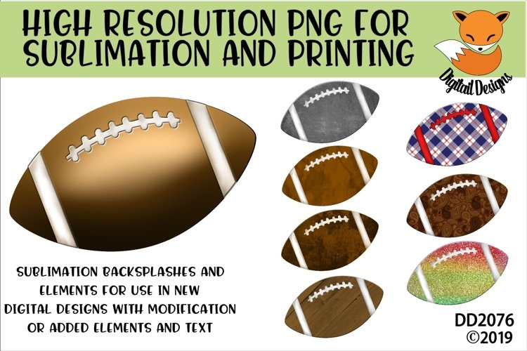 Patterned Football Elements PNG for Sublimation