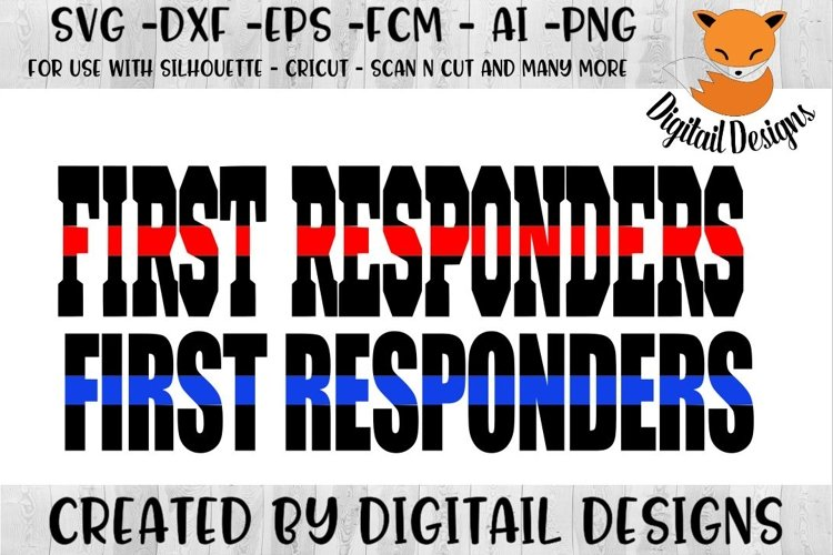 First Responders SVG - Silhouette - Cricut - Scan N Cut example image 1