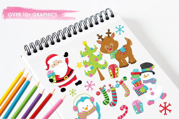 Christmas Friends graphics and illustrations - Free Design of The Week Design1