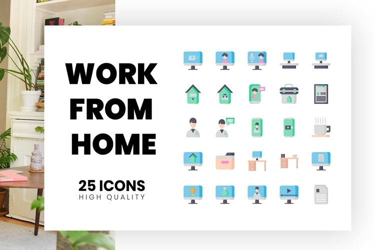 work from home Flat Style example image 1