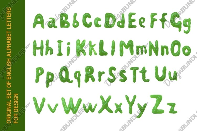 Original set of english alphabet letters for design