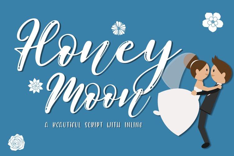 Honeymoon Beautiful Handwritten Font with Inline Effect example image 1