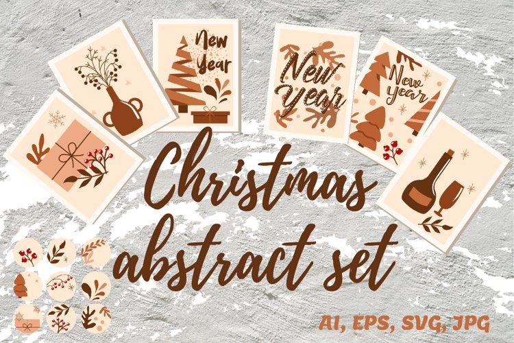 Christmas abstract set SVG example image 1