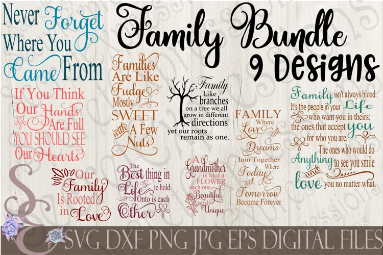 Family SVG Bundle 9 Designs