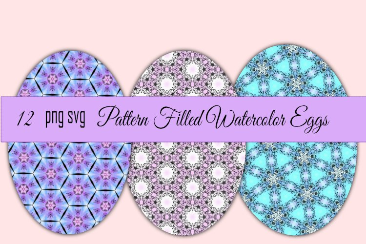 Watercolor Pattern Easter Eggs example image 1