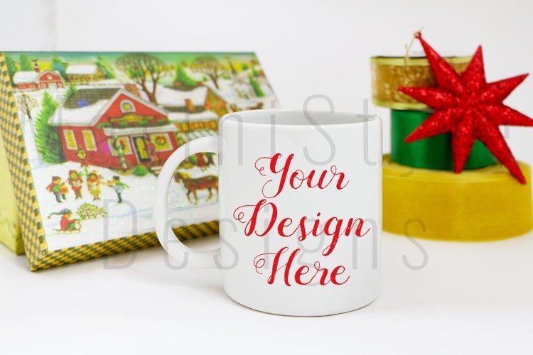 Christmas Styled Mug Mockup, Christmas mug Stock Photo 216