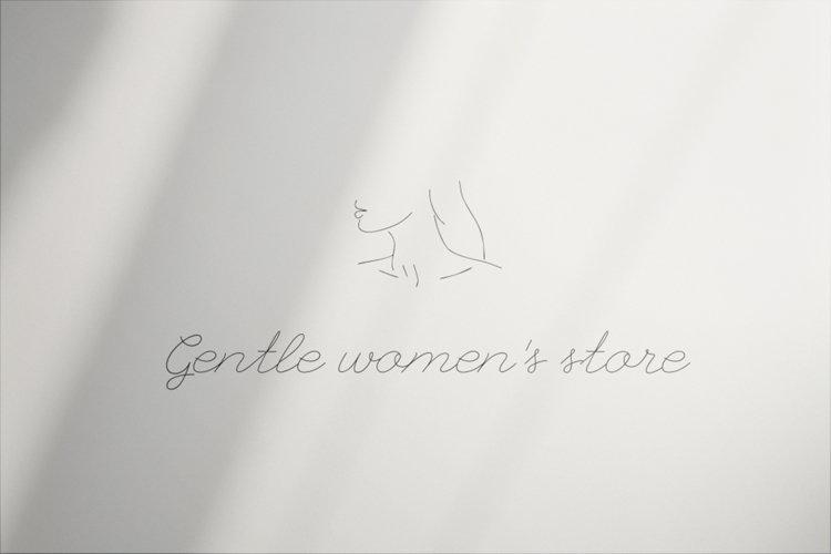 Logo Design, Premade template, Women's Linear, boutique logo example image 1