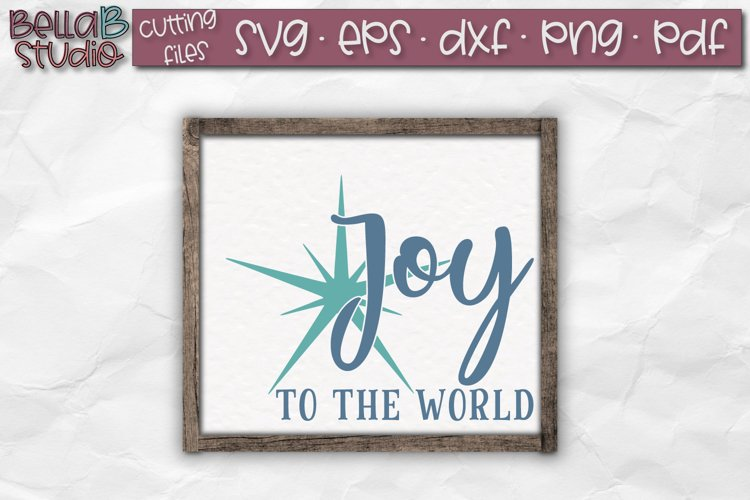 Joy to the World SVG, Christmas Sign SVG example image 1