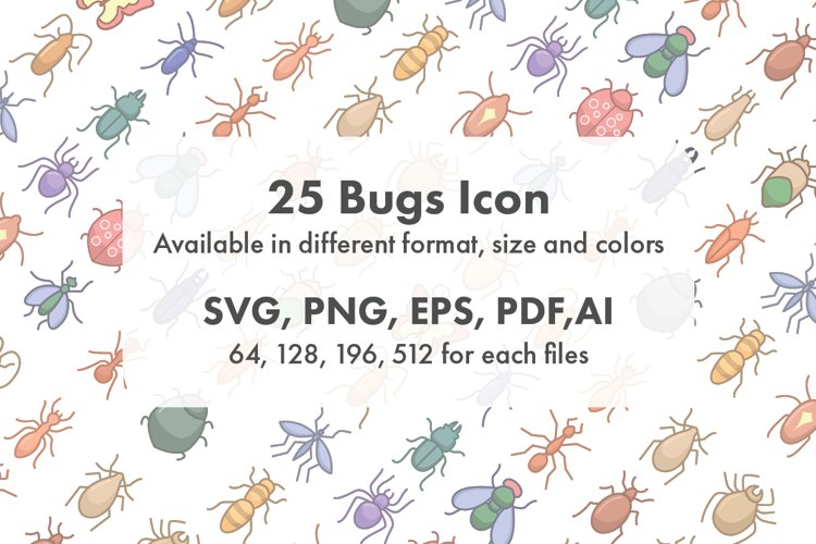 Bugs Icon Set Collection example image 1