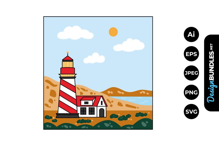 Lighthouse Clipart example image 1