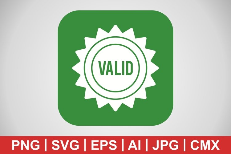 Vector Valid Stamp Icon example image 1
