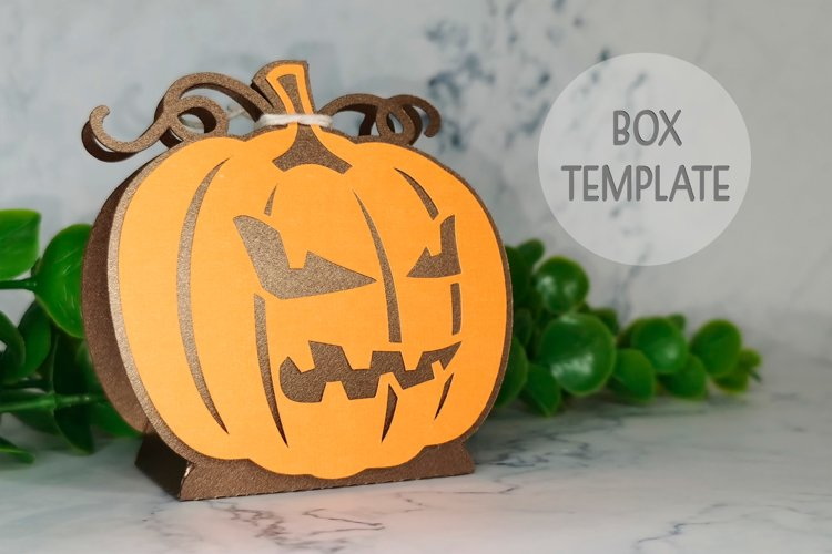 Halloween favor box svg, Pumpkin box template