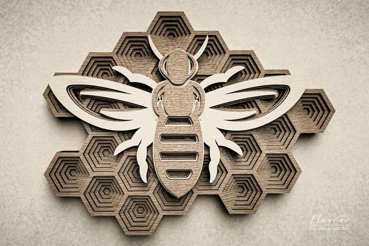 Digital file, Mandala DXF file, DXF honey comb bee