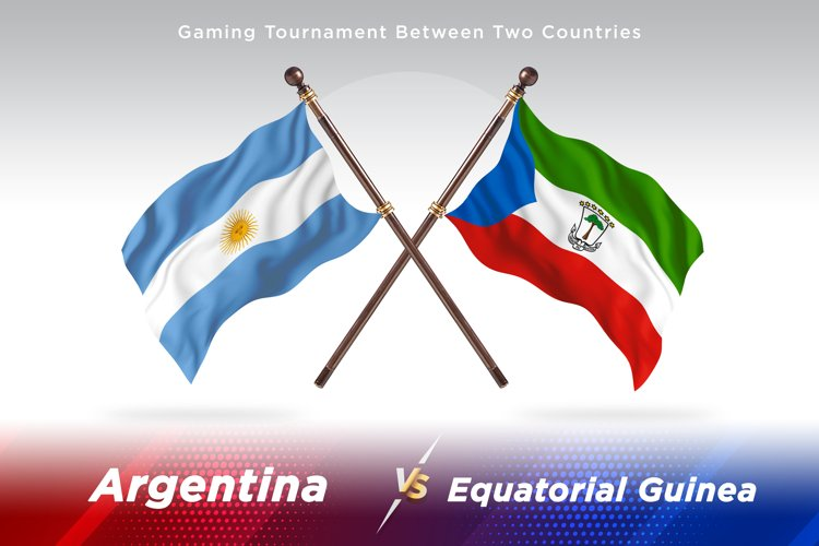 Argentina vs Equatorial Guinea Two Flags example image 1