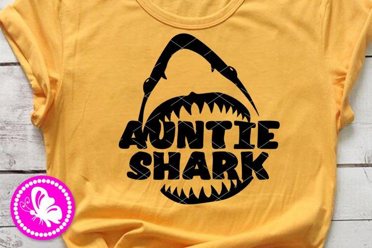Auntie shark jaw svg design Aunt Birthday decor Cricut Png example image 1