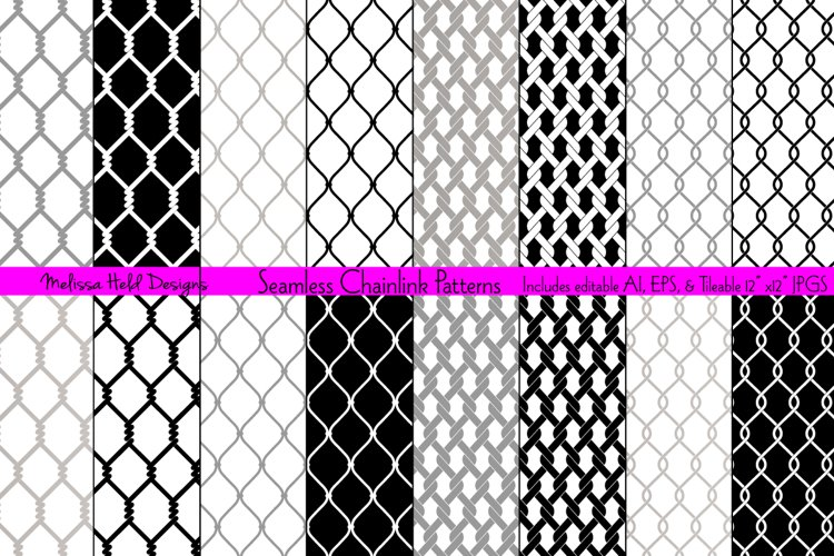 Seamless Chainlink Patterns example image 1