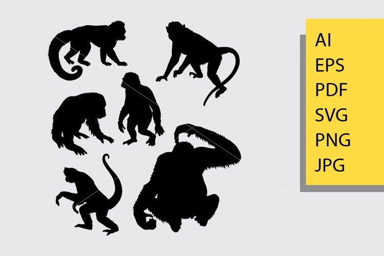 Ape animal silhouette example image 1