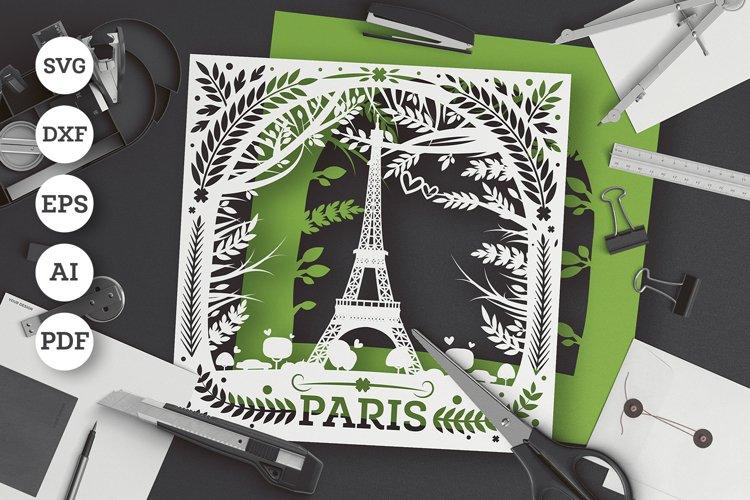 Eiffel Tower in Paris Paper Cut SVG / DXF / EPS 8 / Ai File