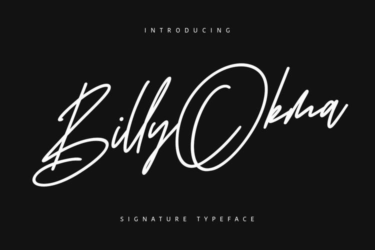 Billy Okma Signature Font example image 1