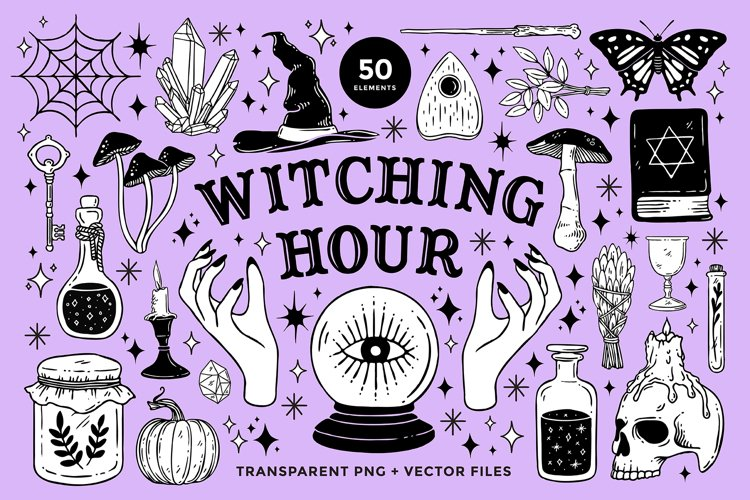 Witchcraft and Magic Illustrations example image 1