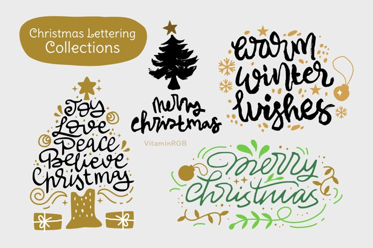 Christmas Lettering Collection example image 1