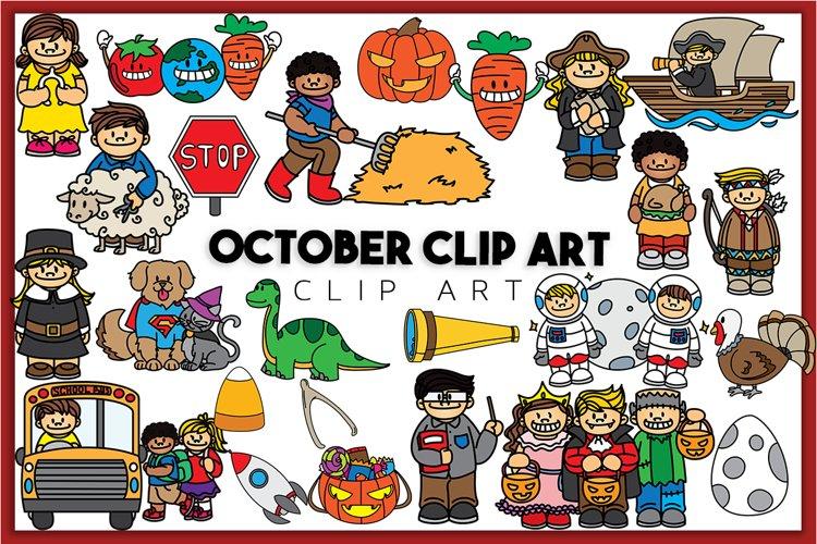 October Clip art - Mister Clips