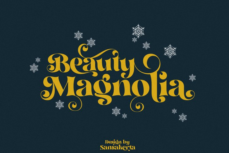 Beauty Magnolia - Display Font example image 1