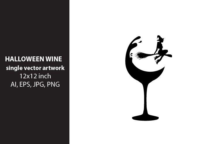 Halloween wine, VECTOR ARTWORK example image 1