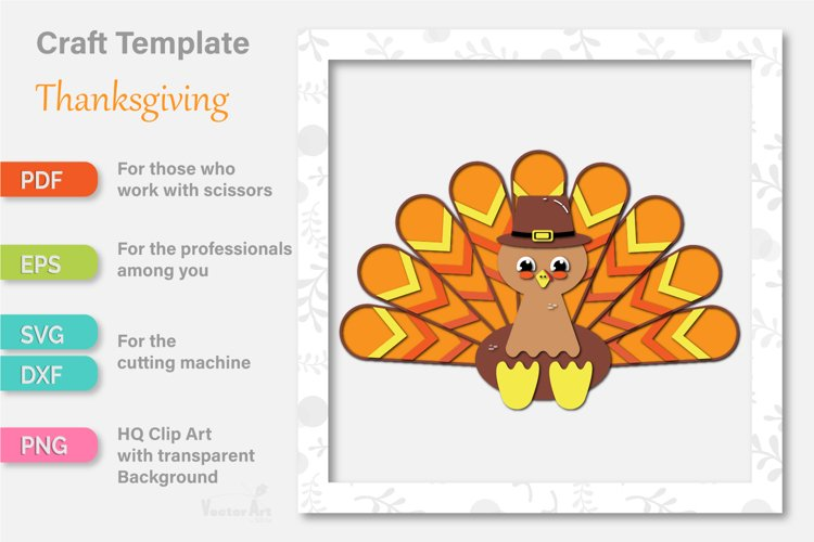 Thanksgiving Turkey - Paper Cut for Crafter example 1