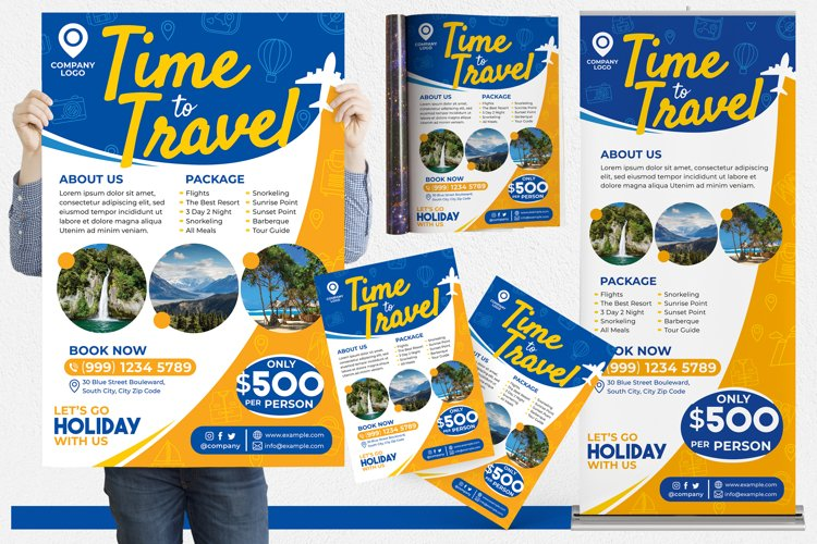 Holiday Travel #01 Print Templates Pack example image 1
