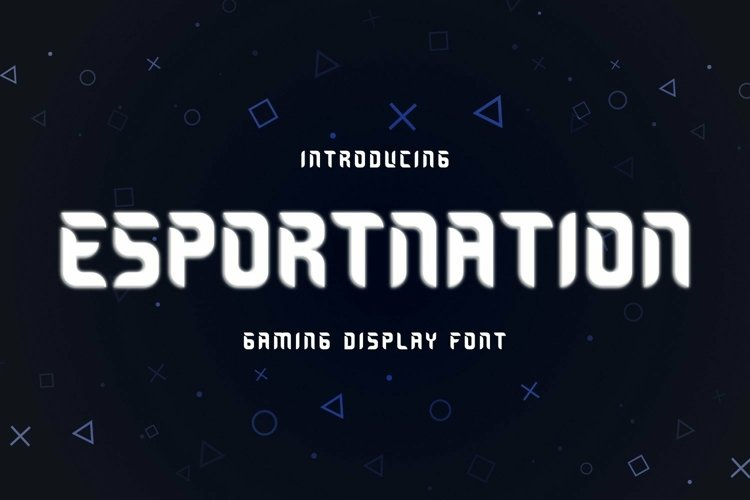 Web Font ESPORTNATION Font example image 1
