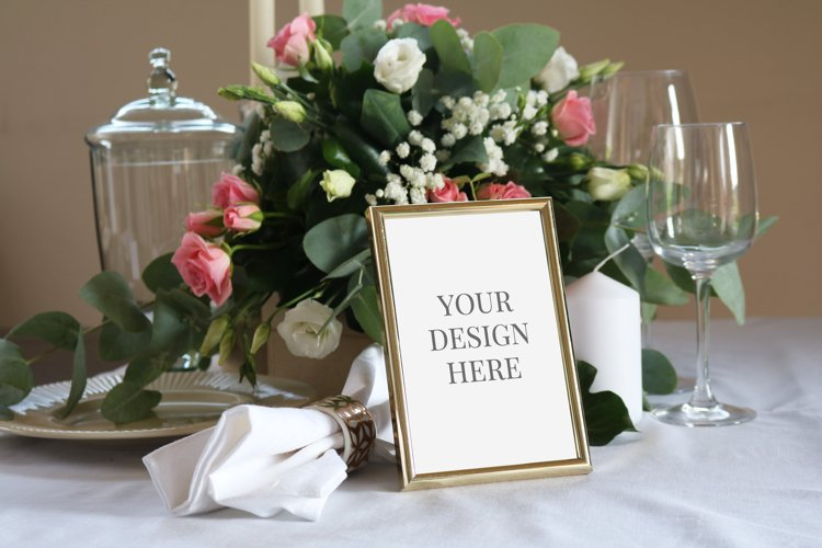 Table Number Mockup, Card Mockup,Wedding Stationary Mockup example image 1
