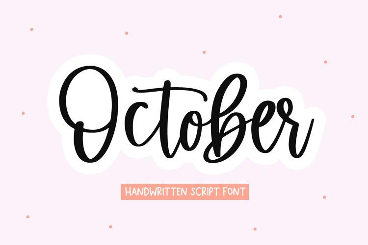 October - Handwritten Script Font example image 1