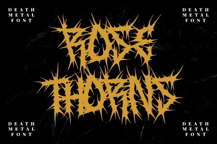 ROSE THORNS - Death Metal Band Font example image 1