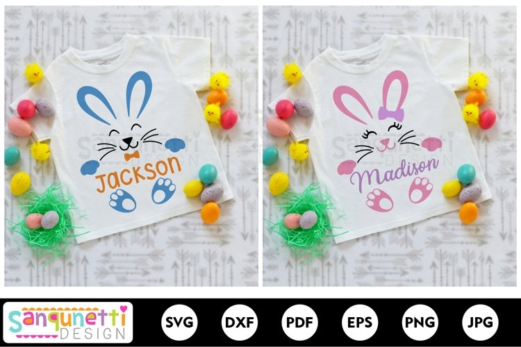 Bunny Face and feet SVG for girls and boys