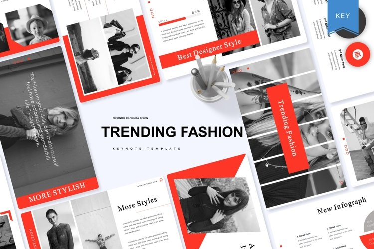 Trending Fashion | Keynote Template example image 1