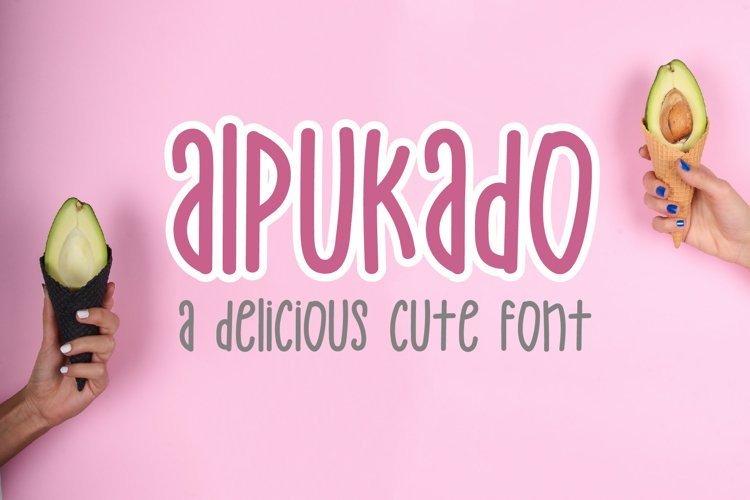 Alpukado - a cute and playful font example image 1