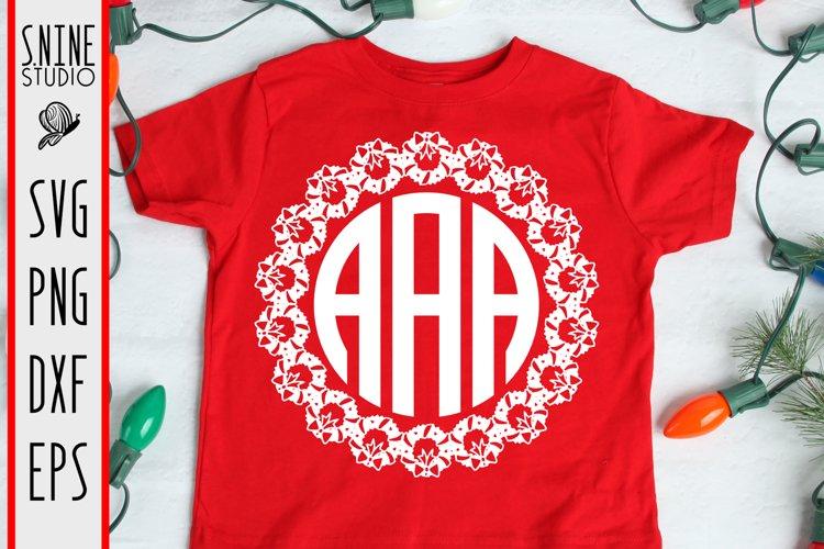 Christmas Monogram SVG Cut File example image 1