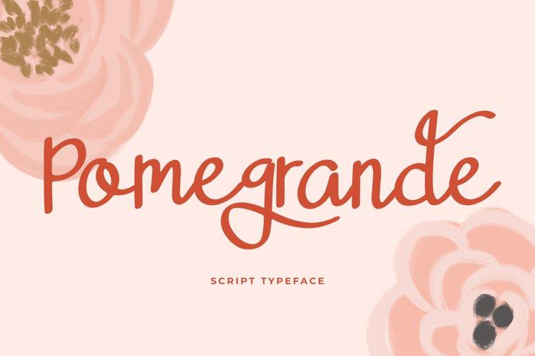 Pomegrande Script Typeface example image 1