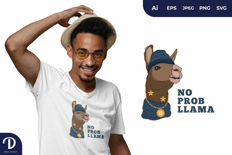 Hipster Llama for T-Shirt Design example image 1