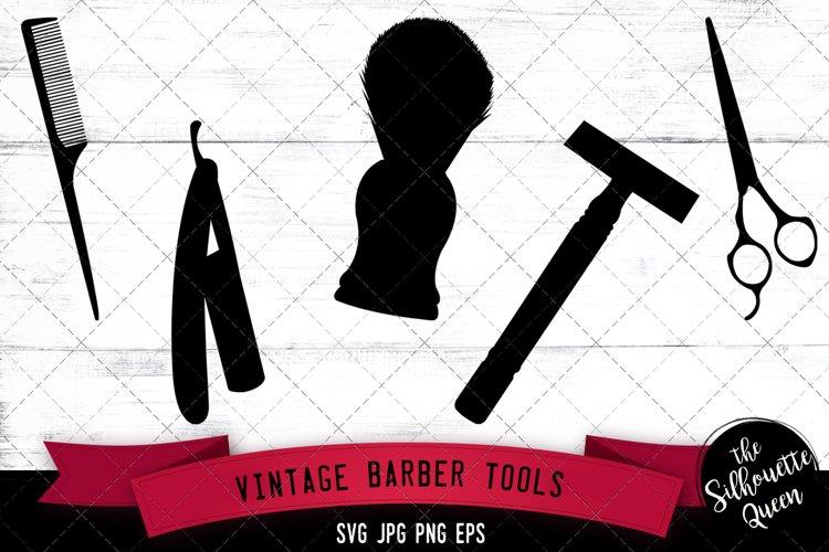 Vintage Barber Tools Svg Cut File example image 1