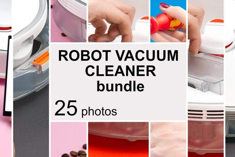 Robot vacuum cleaner replacing container and repair concept