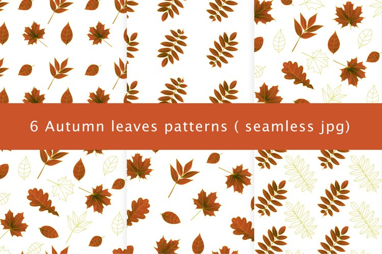 Autumn watercolor leaves pattern, seamless.