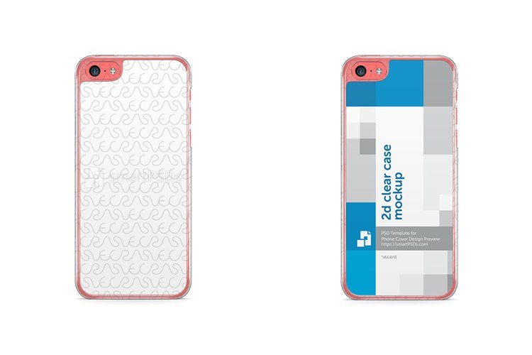 Apple iPhone 5C 2d Clear Mobile Case Design Mockup 2013 example image 1