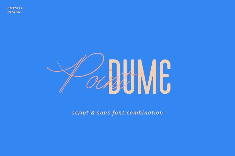 Point Dume font duo example image 1