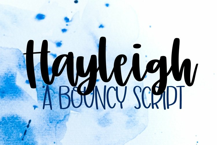 Web Font Hayleigh - A Simple Hand Lettered Script example image 1